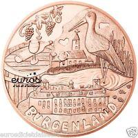 10 euros commémorative AUTRICHE 2015 - Les Provinces - BURGENLAND - en cuivre