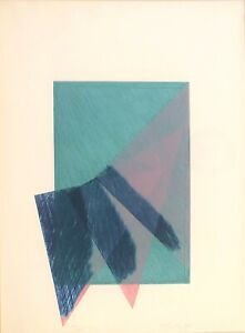 Richard Smith, Britsh Modernist, 1980 Abstract Etching