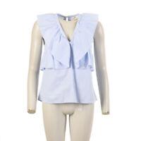 LEXINGTON CLOTHING Camicetta Elmira Popeline Righe Blu Taglia S Bw 199