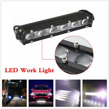 "12V/24V 6D Single Row 8""inch 60W CREE LED Work Light Bar Off road Spot Beam Fog"