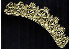 CROWN GOLD DIADEM HEADBAND ORNATE TIARA COSTUME GERMAN DRESDEN EMBOSSED FOIL