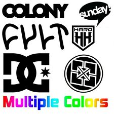 "8""x2"" black//white Sunday Bikes Frame Decal Sticker"