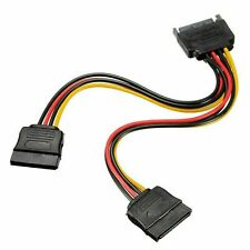 SATA Power 15-pin Y-Splitter Cable Adapter Male to Female for SSD HDD Hard Drive