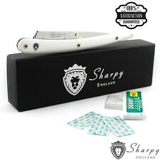 Sharpy® Straight Cut Stainless Steel Razor Blades Barber Folding Shaving Knife