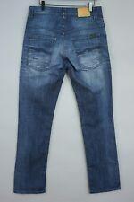 Men Nudie Jeans Thin Finn Blue Slim Fit Size W32 L32 JCA246