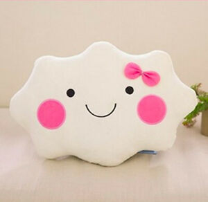 Cute Cloud Fleece Pillow Cushion Stuffed Bed Home Decoration Funny Pillow38x28cm