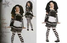 DELUXE TEEN GOTHIC DOLLY RAG DOLL HALLOWEEN COSTUME GIRLS  LARGE