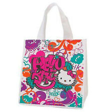 NEW SANRIO HELLO KITTY GRAFITTI ART ECO SHOPPER GROCERY TOTE BAG PURSE SHOPPING