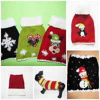Christmas Dog Clothes Sweater puppy pet cat Clothing coat X Small Medium Large