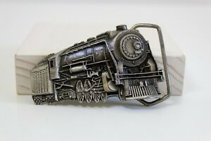 Train Locomotive Indiana Metal Craft Belt Buckle Made in the USA Pewter 1980