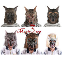 Halloween Wolf Head Mask Animal Cosplay Party Werewolf Costume Fancy Dress Prop