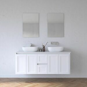 Melbourne Classic Wall Hung 1500 Bathroom Vanity Stone Top Basins Excluded BV01