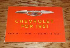1951 Chevrolet Full Line Foldout Sales Brochure 51 Chevy Bel Air Fleetline