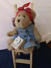 Boyd's Collectible Best Dressed Bear With Kitchen Chair