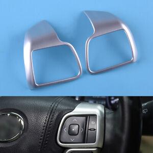 2pcs Steering Wheel Decor Cover Trim Fit For Toyota Highlander Kluger 2014-2019