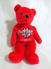 "HARD ROCK CAFE Memphis Teddy Bear Bean Bag Plush 8"" Rita Beara Red 2000"