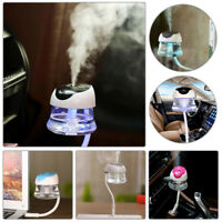 Car Air Humidifier Purifier Portable Mini USB Freshener Essential Oil Diffuser