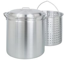 Bayou Classic4060 60-Quart All Purpose AluminumStockpot withSteamand Boil Basket