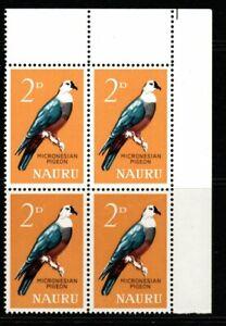NAURU SG57 1965 2d BIRD DEFINITIVE MNH BLOCK OF 4