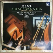 415 671-1 Bach 4 Overtures, Suites BWV 1066-1069 / Goebel / MA Koln / 2 LP bo...