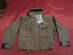 Frogg Toggs Hellbender Fly Fishing & Wading Jacket Stone Color NT1105-05 Small