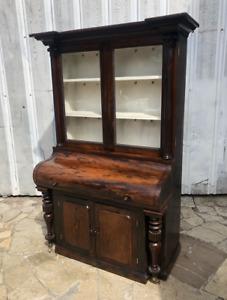 Exclusive Unique William the 4th Rosewood Display Cabinet Circa 1820