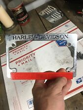 Harley Davidson OEM Motorcycle License Plate Frame Chrome Genuine Parts