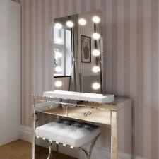 Hollywood Mirror Alicia Bianco bordo specchio con fondo bianco 80x60 Vanity Specchio