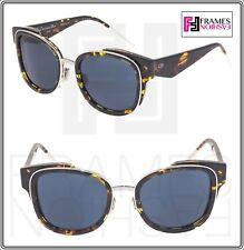 21a8581e5fb Christian Dior Verydior 2n Brown Tortoise Silver Blue Oversized Limited  Sunglass