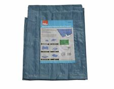 More details for hilka 9ft x 6ft tarpaulin heavy duty waterproof polythene woven sheet, with rope