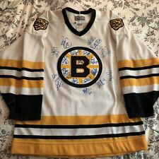 Boston Bruins Center Ice CCM Jersey, Signed, Size 48