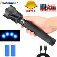 200000lm Lamp xhp70.2 Led flashlight rechargeable 18650 26650 Zoomable led torch