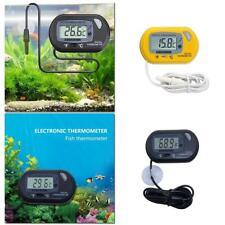 1Pcs Lcd Digital Fish Tank Reptile Aquarium Water Meter Thermometer Temperature