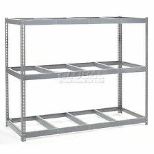 Wide Span Rack With 3 Shelves No Deck 1100 Lb Capacity Per Level 96w X 24d X