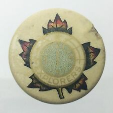 Northern Explorers Maple Compass Rose Windrose Pinback Pin Badge Button G786