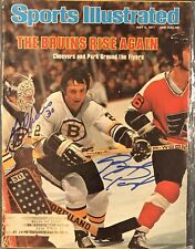 Brad Park & Gerry Cheevers Signed Sports Illustrated SI 5/9/77 Issue NHL Bruins