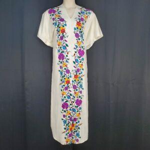 Lucie Ann Beverly Hills Ivory Floral Designer Kaftan One Size Neiman Marcus Vtg