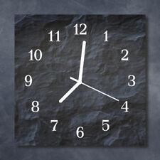 Glass Wall Clock Kitchen Clocks 30x30 cm silent Background Grey