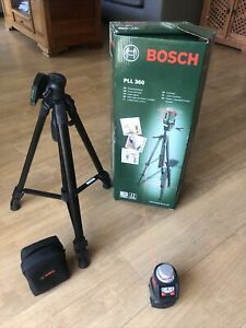 Bosch PLL 360 Cross Line Laser Level + Bag + Tripod -VGC.