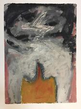 Roberto Bonilla Ryan Original Expressionism Painting On Paper Puerto Rico 1993
