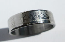 Flame Stainless Steel Ring - Size 6.5  (16.9mm)