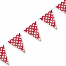 RED POLKA DOTS MINNIE MOUSE PARTY BUNTING FOR BIRTHDAY PARTIES BABY SHOWER!