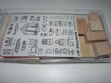 Stampin Up VERY RARE Dollhouse Stamp Set NEW UM (Missing 1 Stamp) + Bonus