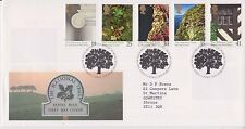 GB ROYAL MAIL FDC FIRST DAY COVER 1995 NATIONAL TRUST STAMP SET BUREAU PMK