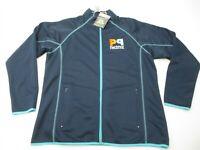 LESLIE JORDAN Jacket Women's Size XL Active Running Breathable Full Zip Blue