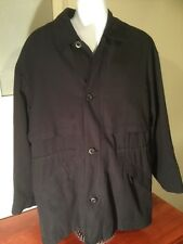 Men's BILL BLASS Navy Blue Coat Size Large