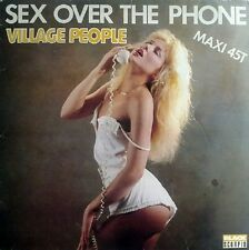 """Village People Sex Over The Phone Vocal & Instrumental Versions French 12"""""""