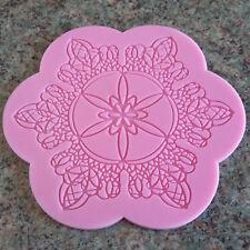 FLOWER Lace Stampo in Silicone Fondente Glassa Torta Nuziale Decorazione Stampo Tappetino