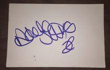 NICOLA STAPLETON SIGNED 6X4 WHITE CARD TV AUTOGRAPH BAD GIRLS & EASTENDERS