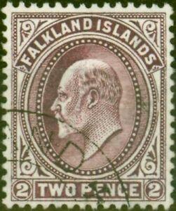 Falkland Islands 1912 2d Reddish Purple SG45b Superb Used